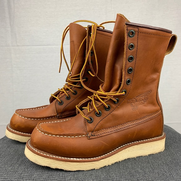 "a3d73fbe539e8 Red Wing Heritage Men's Moc Toe 8"" Work Boot"